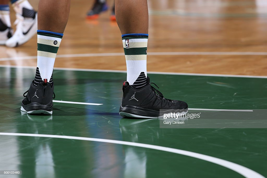 New York Knicks v Milwaukee Bucks | Getty Images Jabari Parker Shoes