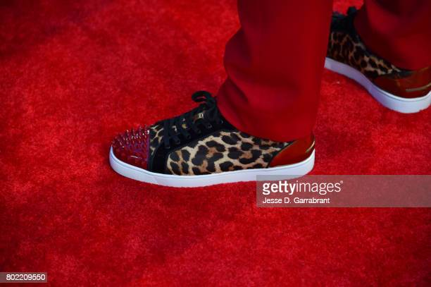 The shoes of John Wall of the Washington Wizards arrives on the red carpet during the 2017 NBA Awards Show on June 26 2017 at Basketball City in New...