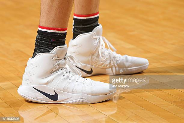 The shoes of Marc Gasol of the Memphis Grizzlies during the game against the Portland Trail Blazers on November 6 2016 at FedExForum in Memphis...