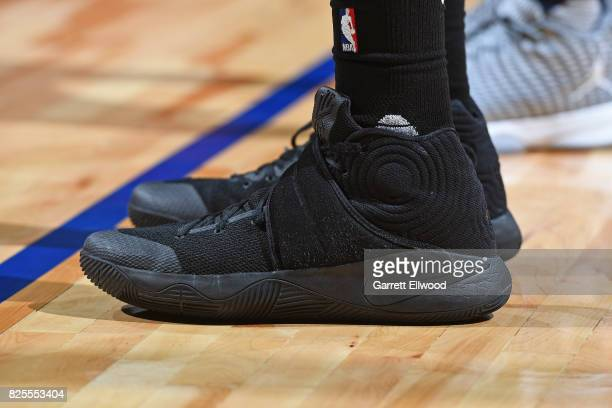 The shoes of Skal Labissiere of the Sacramento Kings during the 2017 NBA Las Vegas Summer League game against the Dallas Mavericks on July 13 2017 at...