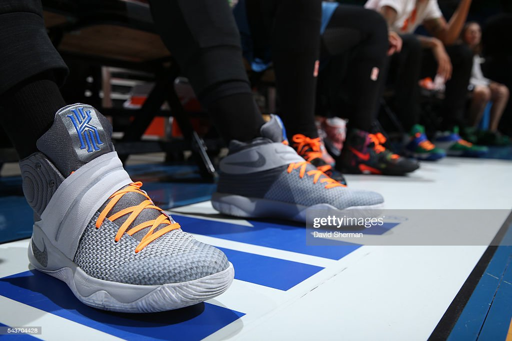 The shoes of <a gi-track='captionPersonalityLinkClicked' href=/galleries/search?phrase=Sylvia+Fowles+-+Basketball+Player&family=editorial&specificpeople=707903 ng-click='$event.stopPropagation()'>Sylvia Fowles</a> #34 of the Minnesota Lynx are seen with orange laces to honor <a gi-track='captionPersonalityLinkClicked' href=/galleries/search?phrase=Pat+Summitt&family=editorial&specificpeople=718767 ng-click='$event.stopPropagation()'>Pat Summitt</a> before the game against the New York Liberty on June 29, 2016 at Target Center in Minneapolis, Minnesota.