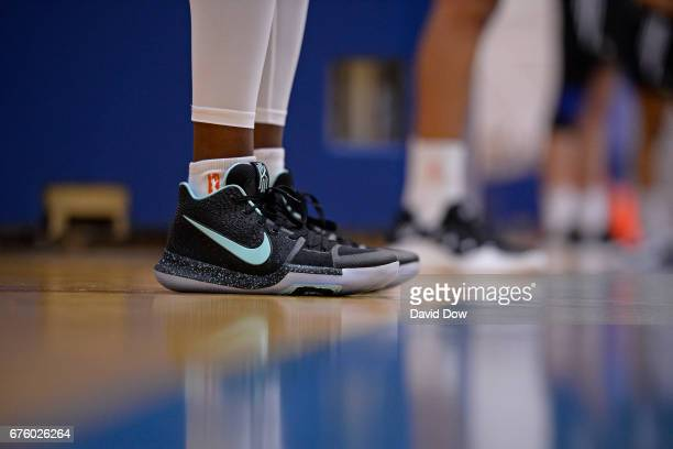 The shoes of Tina Charles of the New York Liberty during practice on May 1 2017 at the MSG Training Center in Tarrytown New York NOTE TO USER User...