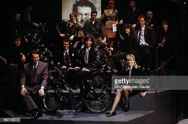 The Show 'une Soiree Pour Les Restos' By Gerard Louvin Animated By Jeanpierre Foucault Paris 14 décembre 1988 Sur le plateau de l'émission 'Une...