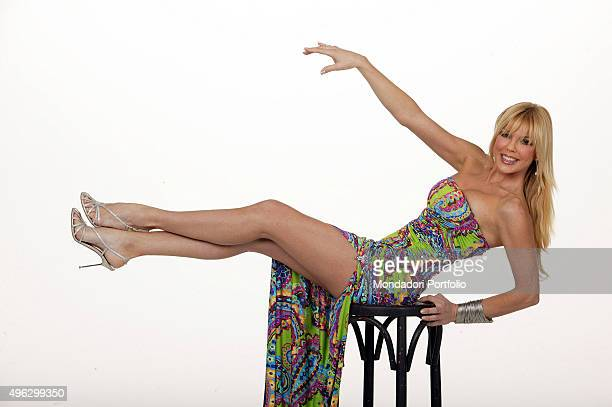 The showgirl and TV presenter Matilde Brandi posing in a photocall for the TV show Scommettiamo Che Italy 2008