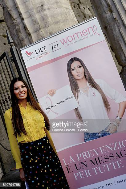 The showgirl Elisabetta Gregoraci godmother of the campaign LILT for Women Pink Ribbon campaign 2016 prevention is a message for all of us on...