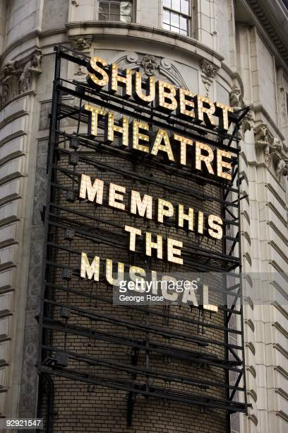 The Shubert Theatre featuring 'Memphis The Musical' is seen in this 2009 New York NY early morning cityscape photo