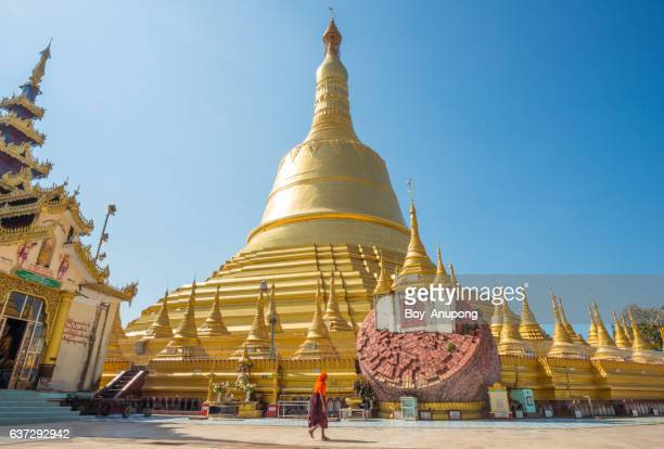 The Shwemawdaw in Bago the ancient capital cities of Burma dynasty.