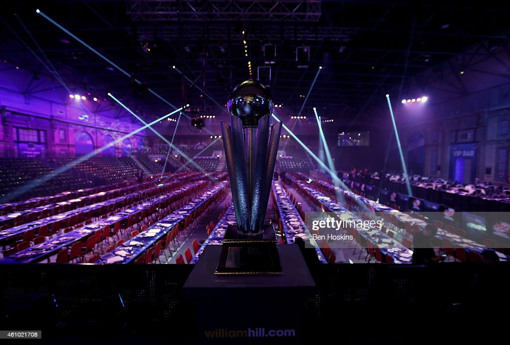 The Sid Waddell Trophy on show ahead of day fourteen of the 2015 William Hill PDC World Darts Championships at Alexandra Palace on January 4 2015 in...