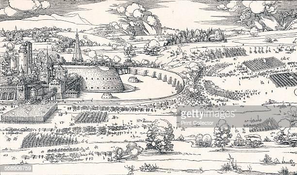 'The Siege of a Fortress I' 1527 From Durer Des Meisters Gemalde Kupferstiche und Holzschnitte in 471 Abbildungen [Stuttgart und Leipzig Deutsch...