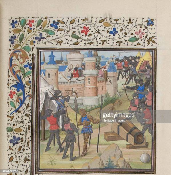The Siege of Antioch Miniature from the Historia by William of Tyre 1460s Found in the collection of the Bibliothèque de Genève