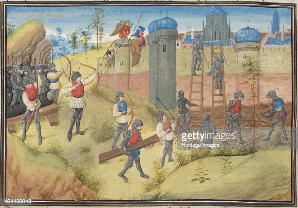 The Siege of Jerusalem 1099 Miniature from the Historia by William of Tyre 1460s Found in the collection of the Bibliothèque de Genève