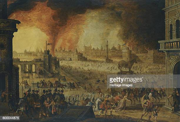 The Siege of Troy 17th century Private Collection Artist Anonymous