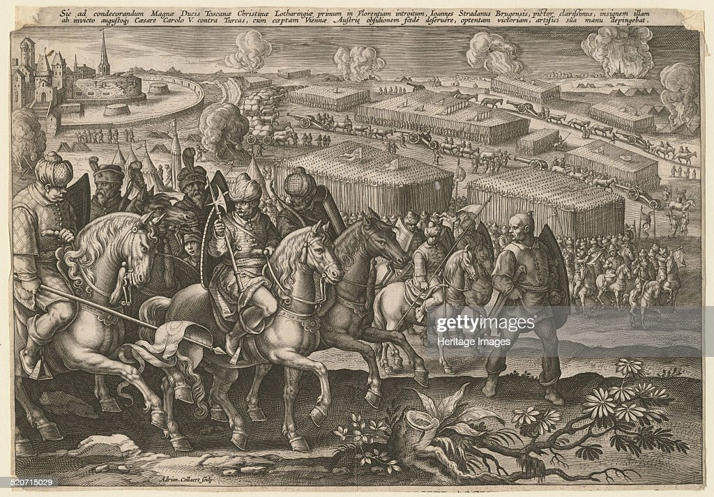 The Siege of Vienna by Turkish army 1529 Private Collection