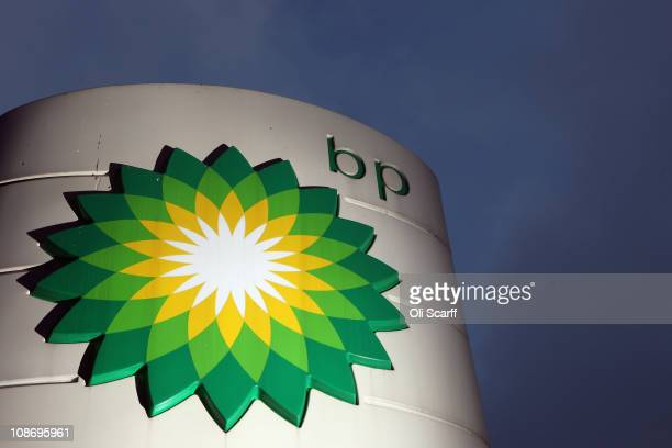 The sign for a BP filling station in Westminster on February 1 2011 in London England BP has reported a loss for 2010 of 31bn GBP this is the first...