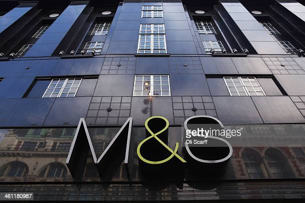 The sign for a branch of Marks Spencer on January 7 2014 in London England The food and clothing retailer which has traded for 130 years has seen a...