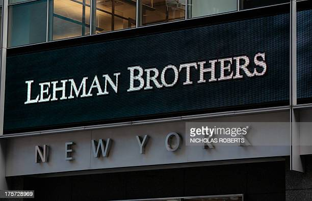 The sign for Lehman Brothers headquarters is seen in New York on September 15 2008 Treasury Secretary Henry Paulson said Monday that the US banking...