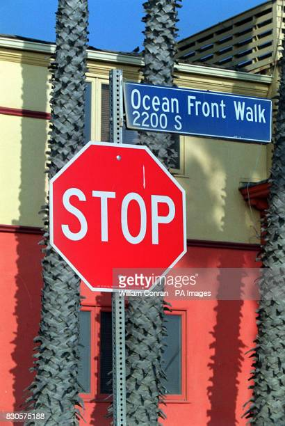The sign for Ocean Front Walk at Venice Beach Los Angeles