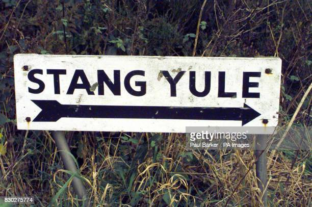 The sign for the cottage Stang Yule near Garstang Lancashire where a sixteen year old accidentally shot himself in the head with a 22 rifle Tom...