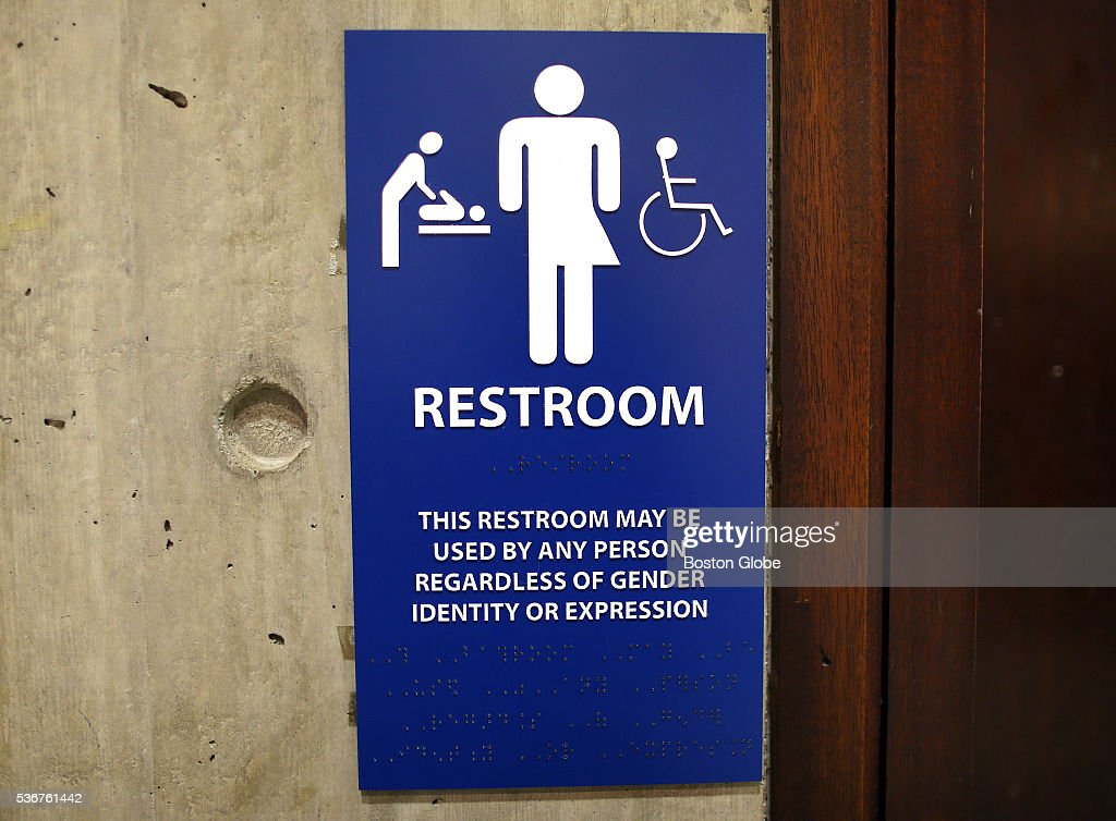 The Sign For The Gender Neutral Bathrooms On The 5th Floor Of Boston Pictures Getty Images