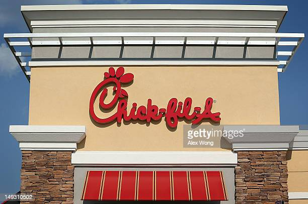 The sign of a ChickfilA is seen July 26 2012 in Springfield Virginia The recent comments on supporting traditional marriage which made by ChickfilA...