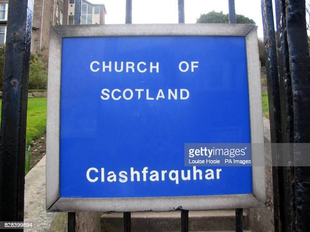 The sign outside Clashfarquhar House in Stonehaven Aberdeenshire Sunday March 19 where a dozen elderly residents have been trapped indoors on its...