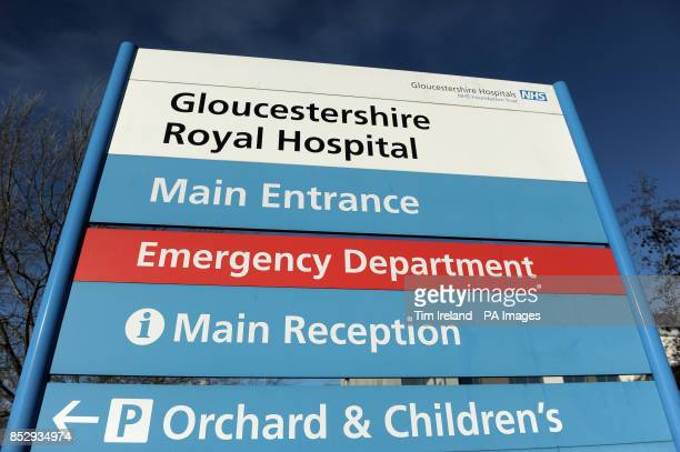The sign outside Gloucestershire Royal Hospital in Gloucester where Zara Phillips gave birth to a baby daughter her first child early this morning...