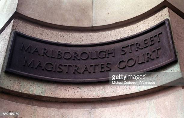 The sign outside Great Marlborough Street Magistrates Court in Soho London Most of the Members of the Rolling Stones appeared in this court Brians...