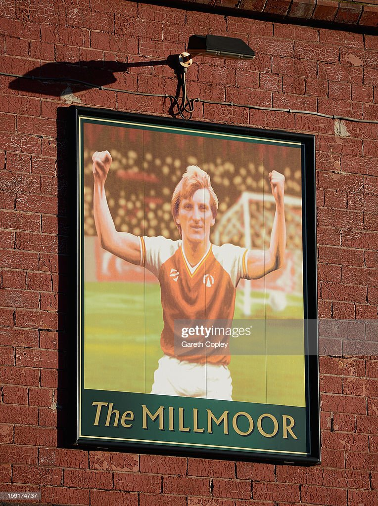 The sign outside the Millmoor Pub on January 9, 2013 in Rotherham, United Kingdom.