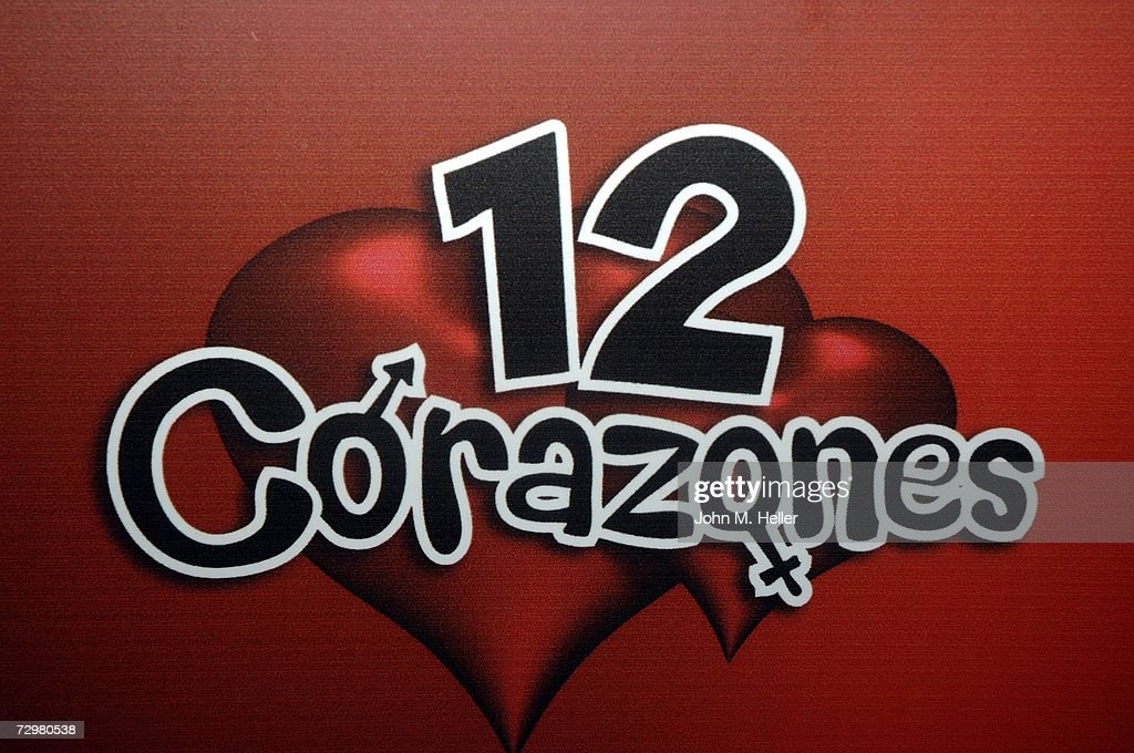Press Junket For Telemundo     s The signage for the         Corazones       the dating game show that combines love     s