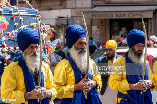 The Sikh community celebrate Vaisakhi and has part in the colourful Vaisakhi Nagar Kirtan procession through to Vittorio Square today April 23 2017...