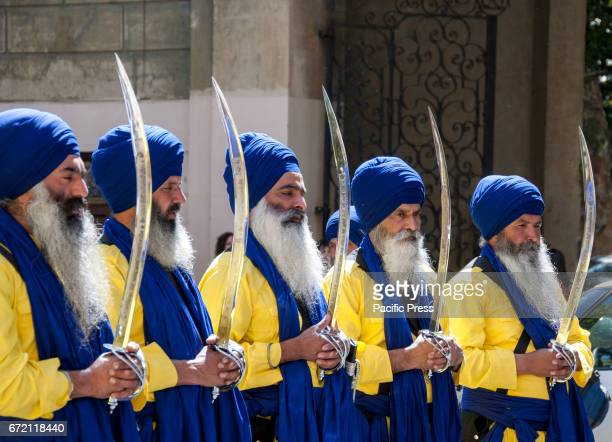The Sikh community in Rome celebrates Vaisakhi the spring with a procession from the multiethnic district of Vittorio Square