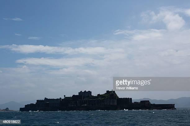 The silhouette that gave Hashima its nickname of 'battleship island' on July 16 2015 in Nagasaki Japan Hashima aka Battleship Island Japan's 'Sites...