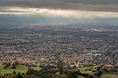 Aerial views of San Jose and Southern Silicon Valley as seen from Mount Hamilton in the Fall of 2016.