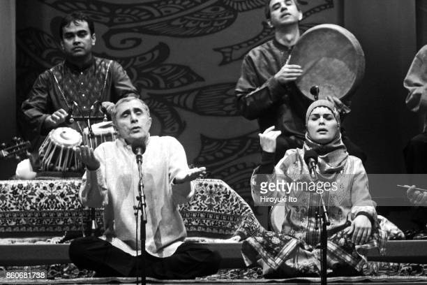 The Silk Road Ensemble performing a free concert at Damrosch Park on Tuesday night June 9 2009 This image Front row from left Alim Qasimov and...