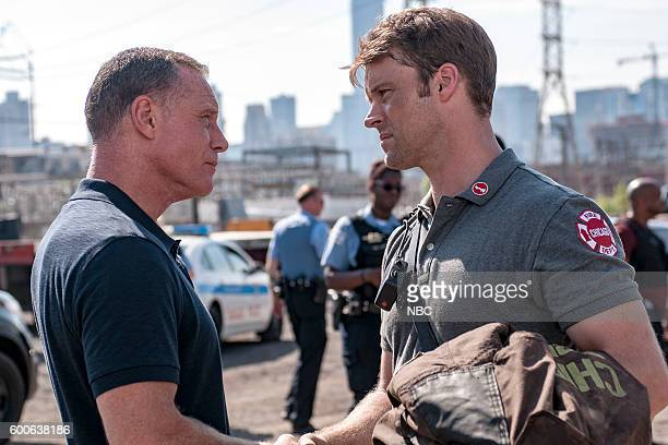 D 'The Silos' Episode 401 Pictured Jason Beghe as Hank Voight Jesse Spencer as Matthew Casey