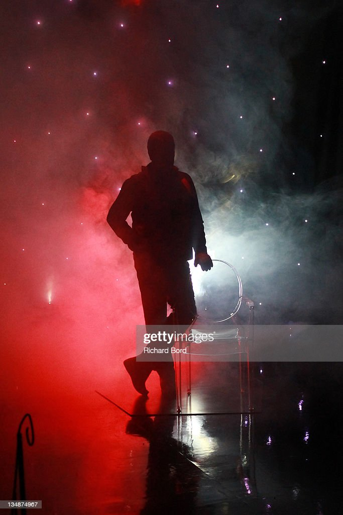The silouette of the Philippe Starck wax figure is seen at Musee Grevin on June 15, 2010 in Paris, France.