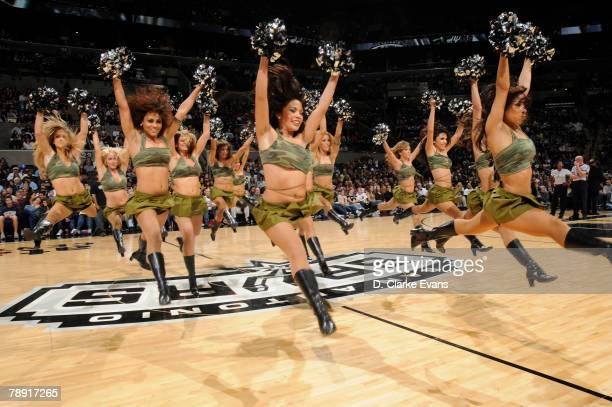 The Silver Dancers of the San Antonio Spurs perform during halftime against the Minnesota Timberwolves on January 12 2008 at the ATT Center in San...