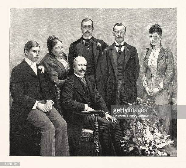 The Silver Wedding Of The Duke And Duchess Of Teck Portrait Group Of The Duke And His Family