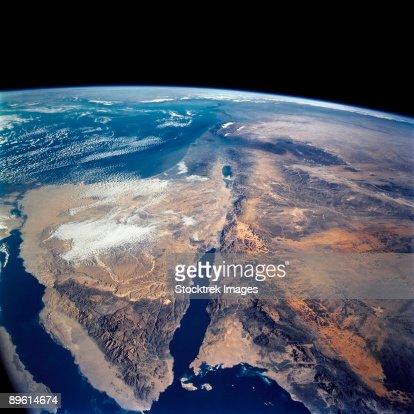The Sinai Peninsula and the Dead Sea Rift. : Stock-Foto