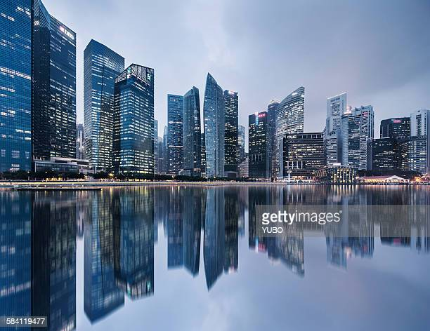 The Singapore financial district