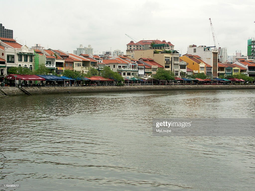 The Singapore River And Riverfront Area In The Heart Of The Business And Civic District Of Singapore