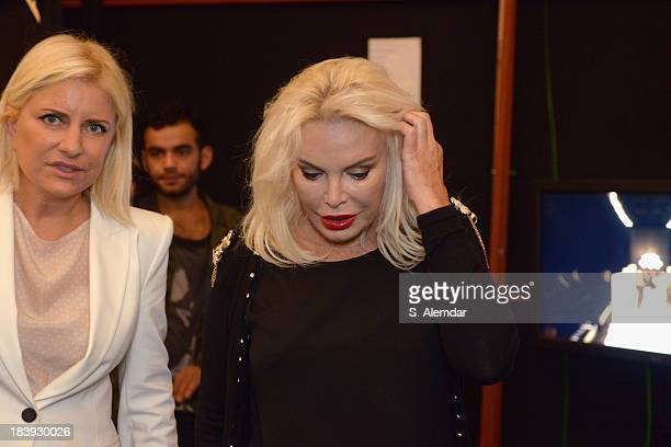 The singer Ajda Pekkan is seen backstage at the RaisaVanessa Sason show during MercedesBenz Fashion Week Istanbul s/s 2014 Presented By American...