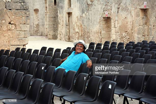 The singer and actor Al Bano photo shooted during the Mea Puglia Festival Cellino San Marco Italy 10th August 2009