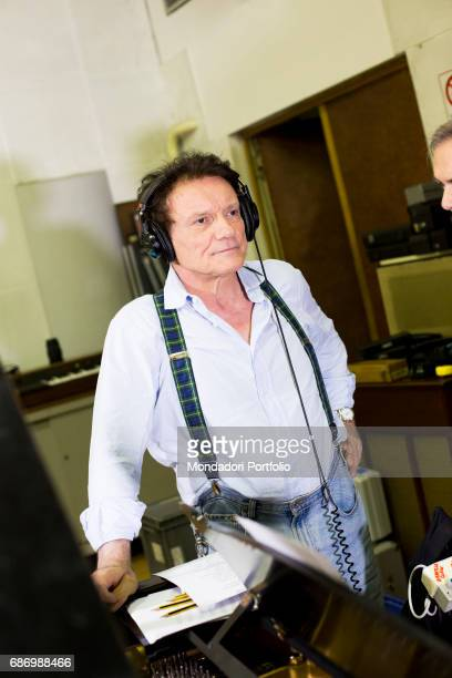 The singer and actor Massimo Ranieri at the recording studio Milan Italy 17th June 2015