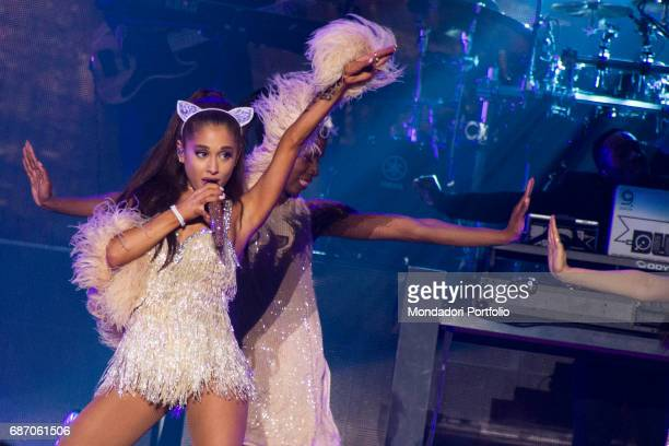 The singer and actress Ariana Grande in concert at the Mediolanum Forum in Assago Assago Italy 25th May 2015