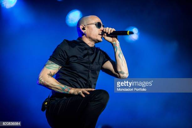 The singer and frontman of Linkin Park Chester Bennington in concert for the iDays Festival 2017 at the Autodromo Nazionale di Monza Monza Italy 17th...