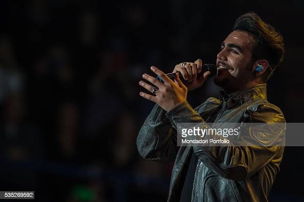 The singer and member of the band Il Volo Ignazio Boschetto in concert at Mediolanum Forum Assago Italy 29th January 2016