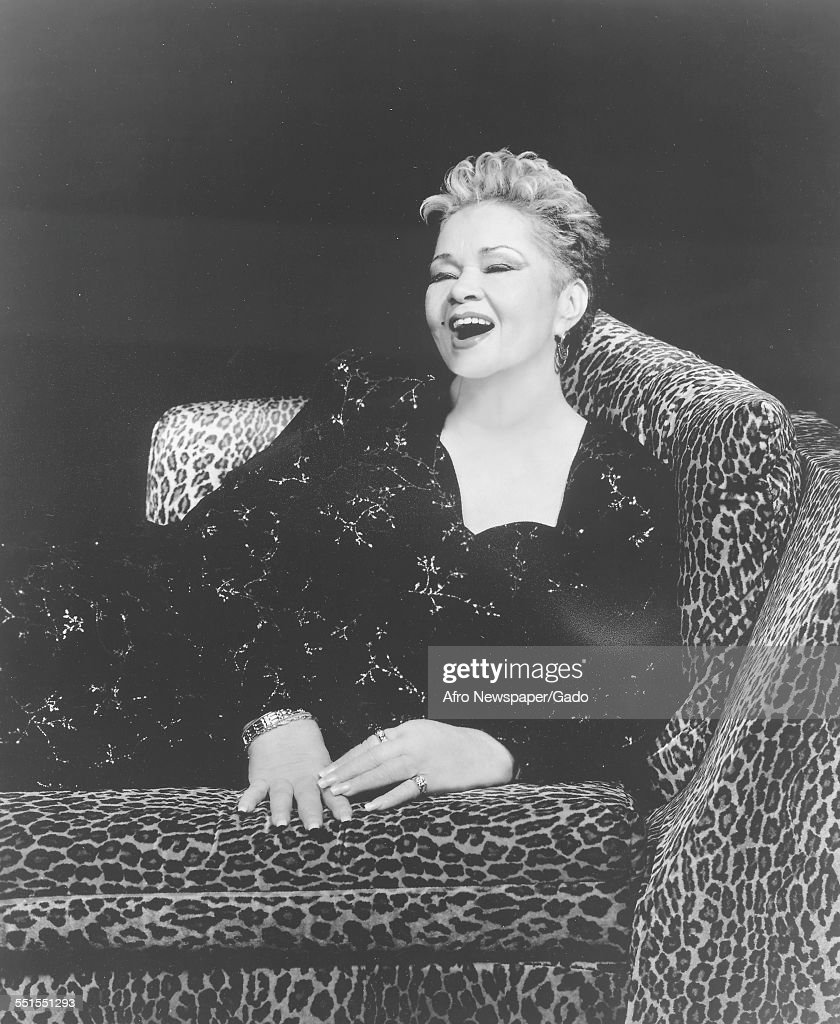 The singer and songwriter <a gi-track='captionPersonalityLinkClicked' href=/galleries/search?phrase=Etta+James&family=editorial&specificpeople=833123 ng-click='$event.stopPropagation()'>Etta James</a> on stage in a chair in 2009, 1960.