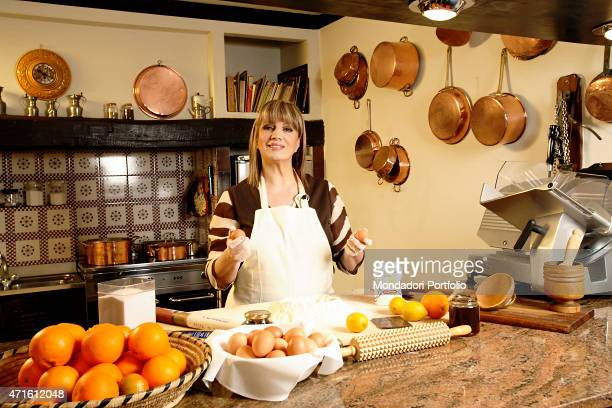 'The singer and TV presenter Iva Zanicchi posing for a photo shooting in the kitchen at home Lesmo Italy 7th February 2006 '