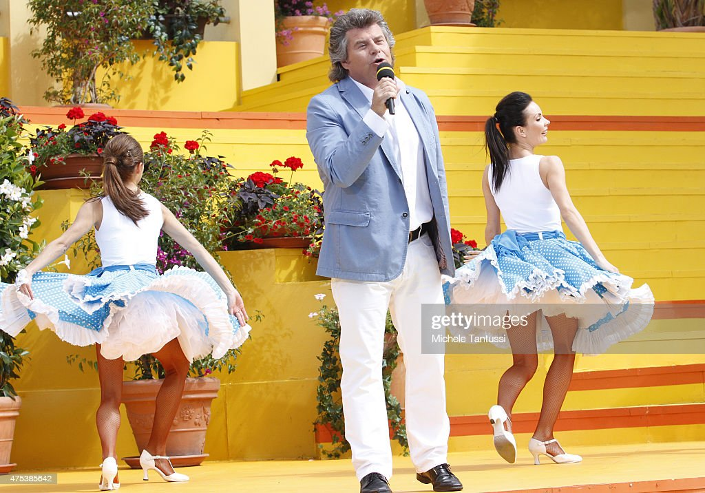 The singer Andy Borg in during the season kick off of the tv show 'Immer wieder Sonntags' at Europapark on May 31 2015 in Rust Germany